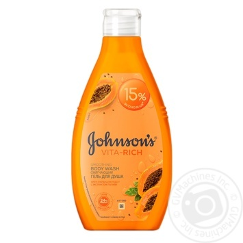 Johnson's Vita-Rich With Papaya Extract For Shower Gel 750ml - buy, prices for Novus - image 1