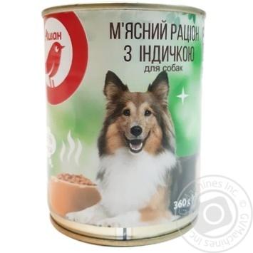 АШАН КОРМ ДЛЯ СОБАК ІНДИЧКА 360Г