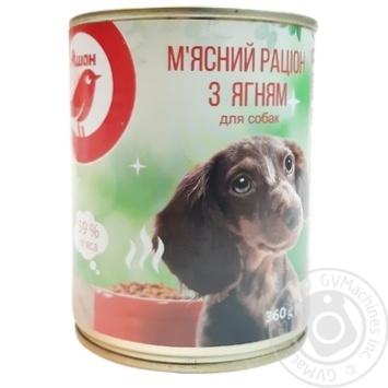 АШАН КОРМ ДЛЯ СОБАК ЯГНЯ 360Г - купить, цены на Ашан - фото 3