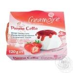 Десерт Кремуар Панна Котта на сливках с клубничным соусом 120г