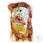 Тушка Смачне каченя утиная маринованная и фаршированная яблоками охлажденная весовая