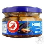 Auchan mussels in oil with spices 200g