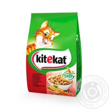 Корм Кіtekat для котов сухой с говядиной и овощами 300г - купить, цены на Фуршет - фото 1
