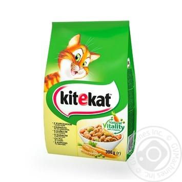 Корм Кіtekat для кошек сухой курица с овощами 300г