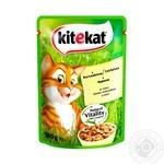 Корм для котів Kitekat з куркою в соусі 100г