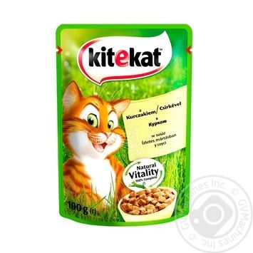 Kitekat conserve for cats with chicken in sauce100g - buy, prices for Tavria V - image 1