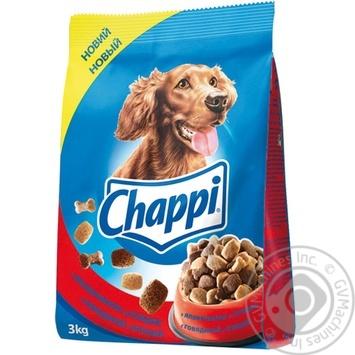 Корм Chappi с говядиной и птицей для собак 3кг - купить, цены на Novus - фото 1