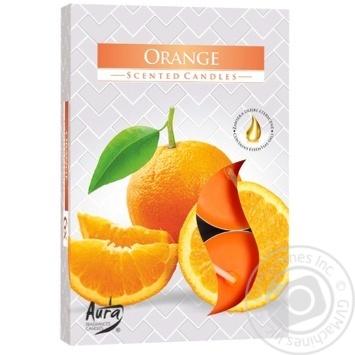 Свеча Bispol апельсин 6шт - купить, цены на МегаМаркет - фото 1