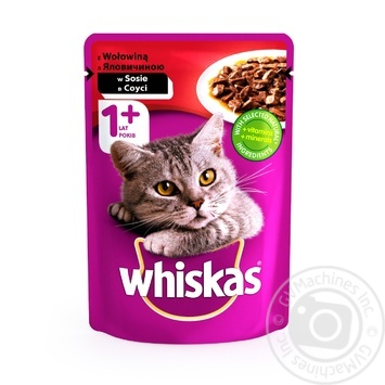 Whiskas With Beef In Sause For Adult Cats Food - buy, prices for Furshet - image 1
