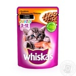 Корм Whiskas для котят с курицей в соусе 100г - купить, цены на Фуршет - фото 1