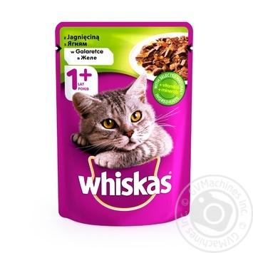 Корм для дорослих котів Whiskas з ягням в желе 100г