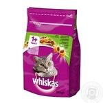 Корм сухой Whiskas для взрослых кошек с ягненком 300г
