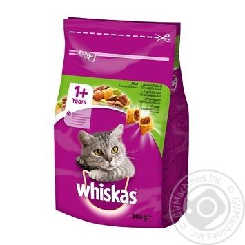 Корм сухой Whiskas для взрослых кошек с ягненком 300г - купить, цены на Novus - фото 1