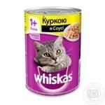 Корм для котов Whiskas с курицей в соусе 400г