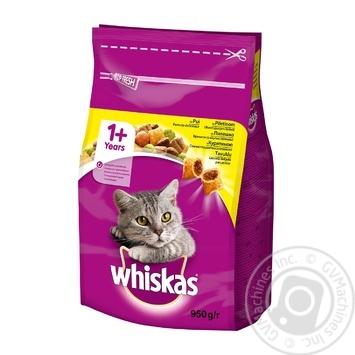 Корм Whiskas сухий Курка для котів 950г - купити, ціни на Novus - фото 1