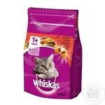 Корм Whiskas сухой Говядина для котов 950г