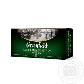 Чай Greenfield чорний Earl Grey Fantasy 25шт*2г - купити, ціни на Метро - фото 2
