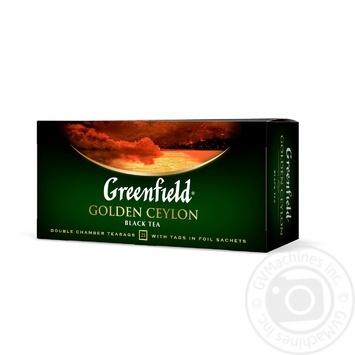 Greenfield Golden Ceylon black tea 25pcs*2g - buy, prices for MegaMarket - image 2
