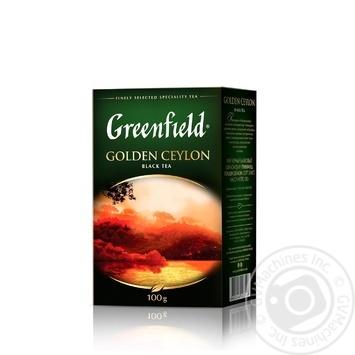 Чай Greenfield черный Golden Ceylon 100г - купить, цены на МегаМаркет - фото 2