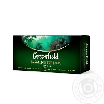 Чай Гринфилд Жасмин Дрим зеленый с жасмином 2г х 25шт - купить, цены на Novus - фото 2