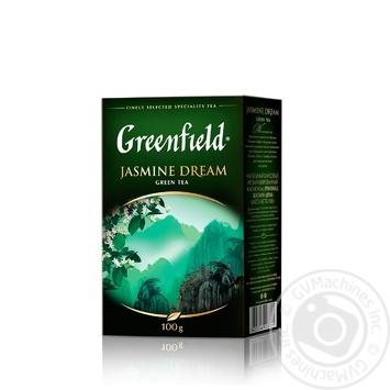 Чай Greenfield Jasmine Dream зеленый с жасмином листовой 100г - купить, цены на Novus - фото 2