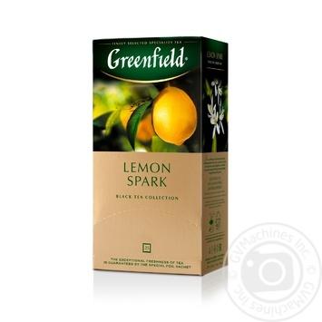 Чай Greenfield чорний Lemon Spark 25шт*1.5г - купити, ціни на Метро - фото 2