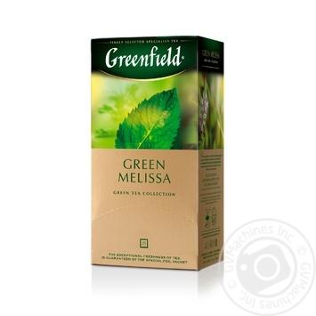 Чай Greenfield зелений Green Melisa 25шт*1.5г - купити, ціни на Метро - фото 2