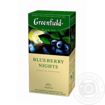 Чай черный Greenfield Blueberry Nights 25шт*1,5г 37,5г - купить, цены на Novus - фото 3