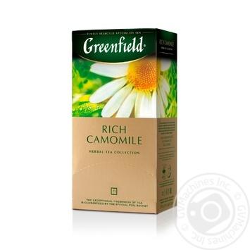 Чай Greenfield трав'яний Rich Camomile 25шт*1.5г - купити, ціни на Метро - фото 2