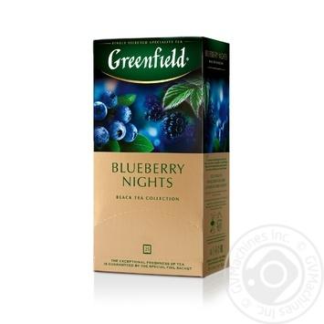 Чай черный Greenfield Blueberry Nights 25шт*1,5г 37,5г - купить, цены на Метро - фото 1