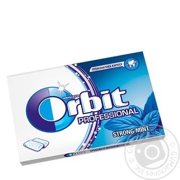 Резинка жевательная Orbit Professional со вкусом мяты и ментола 14г