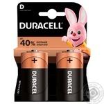Батарейки алкаліновi Duracell Basic D 1.5V 2шт LR20