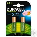 Батарейки акумуляторні Duracell AA 2400 мА/год 2шт HR06