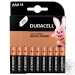 Батарейки Duracell AAА 18шт