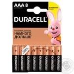 Батарейки Duracell ААА 8шт