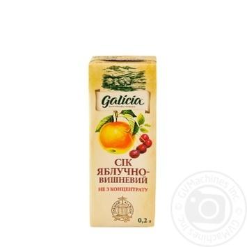 Сок Galicia яблочно-вишневый 0,2л - купить, цены на МегаМаркет - фото 1