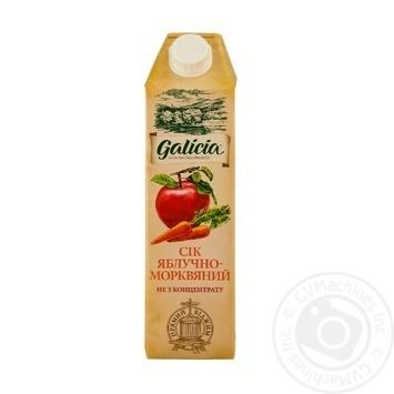 Сок Galicia яблочно-морковный с мякотью 1л