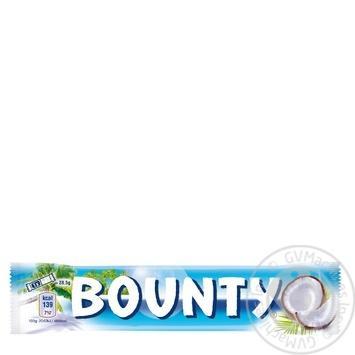Батончик Bounty в молочно-шоколадній глазурі з кокосовою начинкою 57г - купити, ціни на МегаМаркет - фото 1