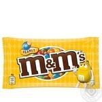 Драже M&M's с арахисом и молочным шоколадом покрытое хрустящей разноцветной глазурью 45г