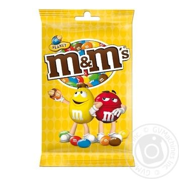 M&M's Dragee Сovered With Colored Crispy Glaze With Peanuts And Milk Chocolate 125g - buy, prices for Novus - image 1