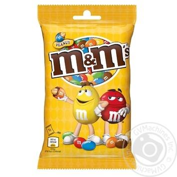 Драже M&M's с арахисом и молочным шоколадом 90г - купить, цены на Novus - фото 1