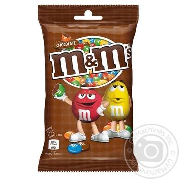 Драже M&M's с молочным шоколадом 90г - купить, цены на МегаМаркет - фото 1