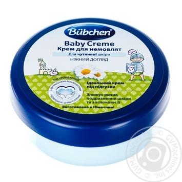 Крем детский Bubchen с ромашкой и пчелинным воск 150мл - купить, цены на Ашан - фото 1