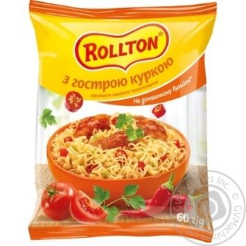 Rollton quick cooking with chicken pasta 60g - buy, prices for MegaMarket - image 1