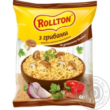 Rollton With Mushrooms Instant Noodles 60g - buy, prices for MegaMarket - image 1