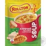 Суп Роллтон куриный с крутонами саше 17г