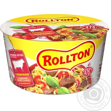 Rollton Egg noodles with homemade beef 75g - buy, prices for MegaMarket - image 1