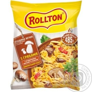 Pasta noodles Rollton egg noodles ready-to-cook 85g packaged - buy, prices for MegaMarket - image 1