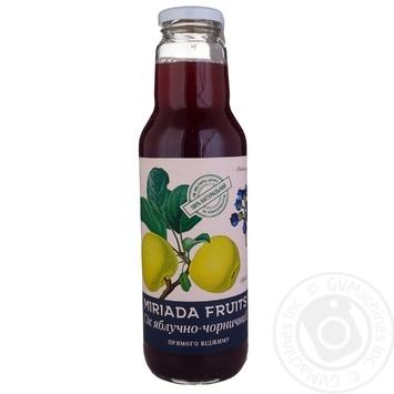 Сок Miriada Fruits Яблочно-черничный 750мл