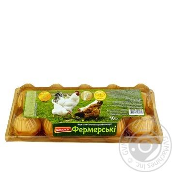 Yasensvit Farm Chicken Eggs С1 10pcs - buy, prices for Auchan - photo 1